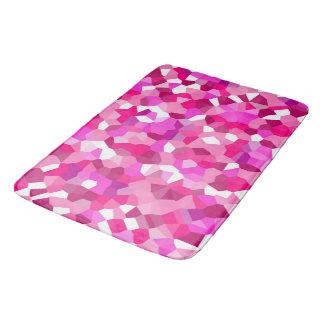 Tapete De Banheiro Vitral cor-de-rosa