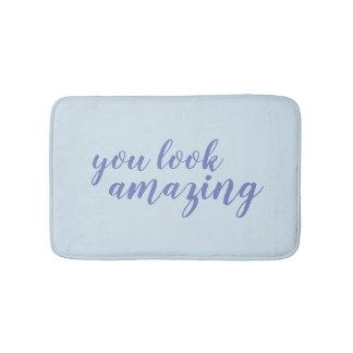 Tapete De Banheiro Você olha caligrafia azul surpreendente