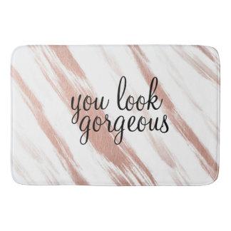 """Tapete De Banheiro """"Você olha"""" o grande ouro cor-de-rosa lindo da"""