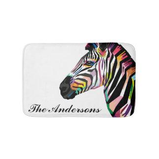 Tapete De Banheiro Zebra colorida personalizada do pop art