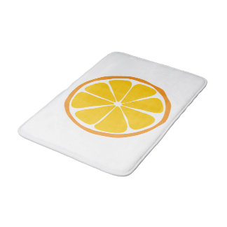 Tapete de banho da laranja do citrino do verão