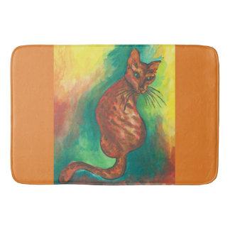 tapete de banho do gato da aguarela