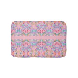 tapete de banho floral cor-de-rosa de paisley