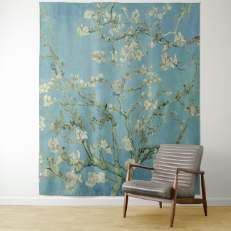 Tapete De Parede Árvore de amêndoa de Vincent van Gogh na flor