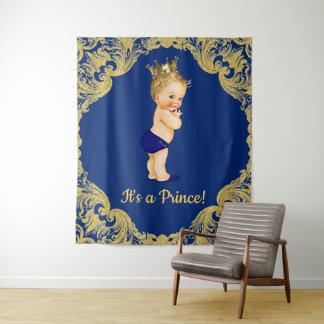 Tapete De Parede Bandeira do contexto do príncipe chá de fraldas