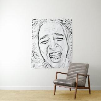 Tapete De Parede Caricatura de riso engraçada da cara da pessoa
