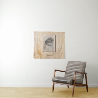 Tapete De Parede Design do vintage com sua foto. Adicione seu texto