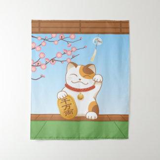Tapete De Parede Gato de chita afortunado japonês, Maneki Neko