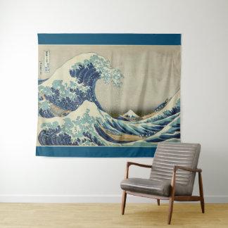 Tapete De Parede Grande onda fora de Kanagawa por Hokusai GalleryHD