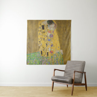 Tapete De Parede Gustavo Klimt o vintage de GalleryHD do beijo