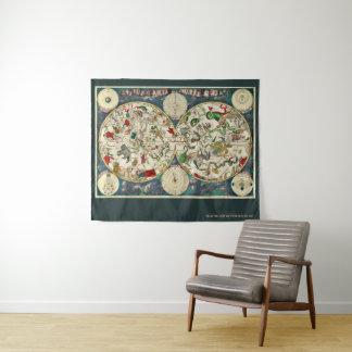 Tapete De Parede Mapa celestial Cartografia Frederik de Sagacidade
