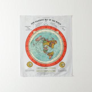 Tapete De Parede Mapa padrão novo da terra lisa Earther do mundo