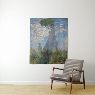 Tapete De Parede Mulher com um parasol pela arte de Claude Monet