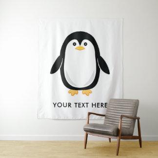 Tapete De Parede O pinguim bonito adiciona seu próprio texto
