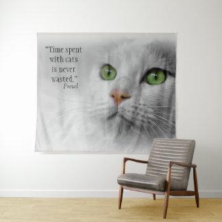 Tapete De Parede O tempo passado com gatos é desperdiçado nunca