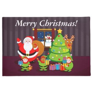 Tapete Desenhos animados de Papai Noel que entregam