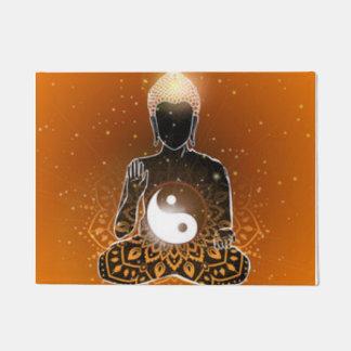 Tapete Design de Ying Yang da meditação de Buddha