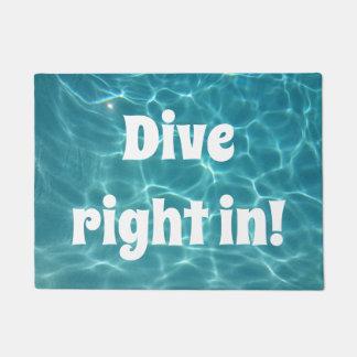 Tapete Direito do mergulho dentro!