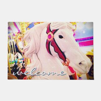 "Tapete Divertimento da ""boa vinda"", foto bonito do cavalo"