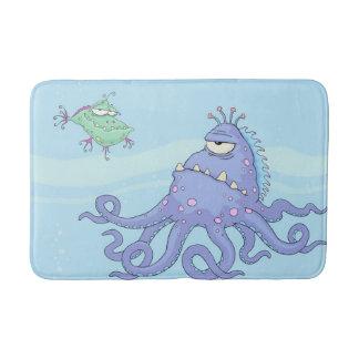 Tapete do banheiro das criaturas do mar dos miúdos