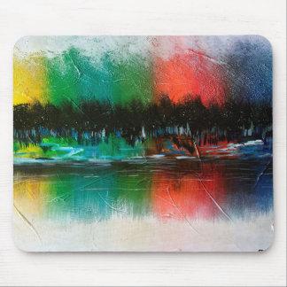 tapete do rato abstrato da pintura de paisagem mousepad