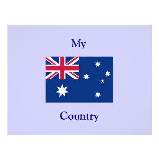 tapete do rato da bandeira de Austrália Panfletos