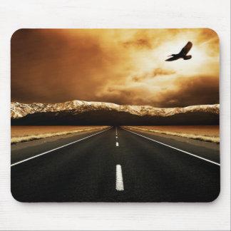 Tapete do rato da estrada da liberdade mouse pad