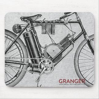 Tapete do rato da motocicleta do vintage mouse pad