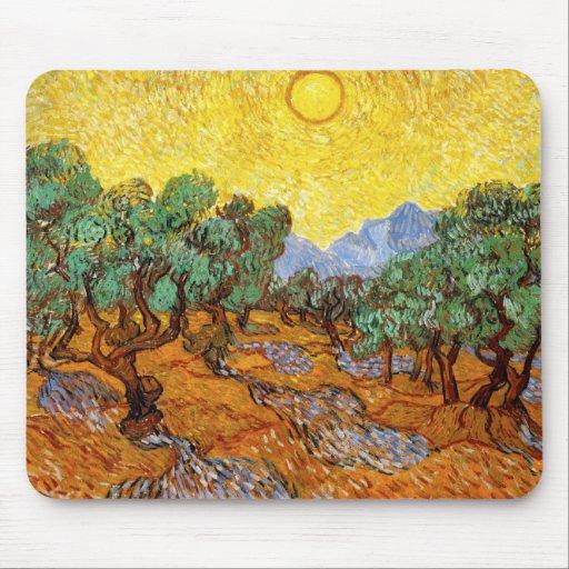 Tapete do rato das oliveiras de Van Gogh Mouse Pad