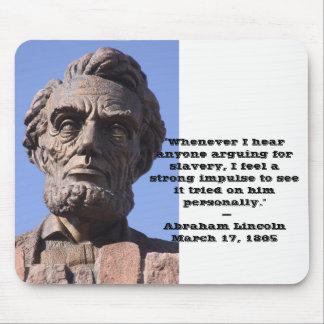 Tapete do rato de Abe Lincoln com citações Mousepad