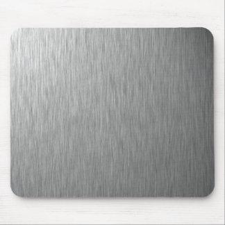 Tapete do rato de aço inoxidável mouse pad