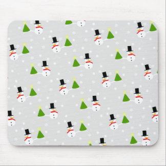 Tapete do rato do boneco de neve do Natal Mouse Pad