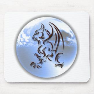 Tapete do rato do design do mundo do dragão mouse pad