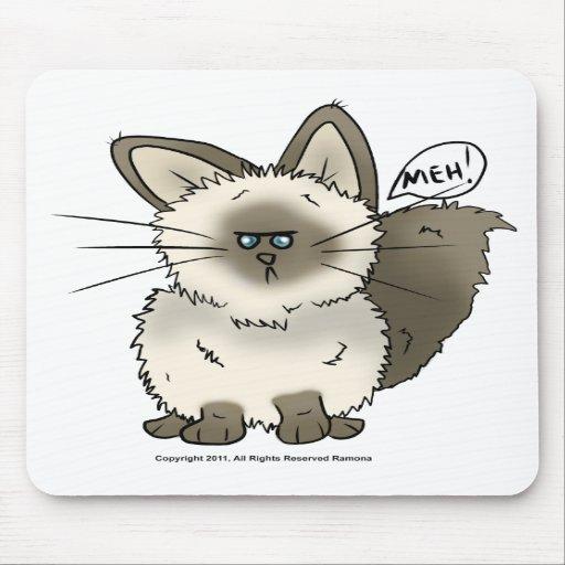 Tapete do rato do gato de Meh Mouse Pad