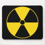 Tapete do rato do símbolo da radiação mousepad
