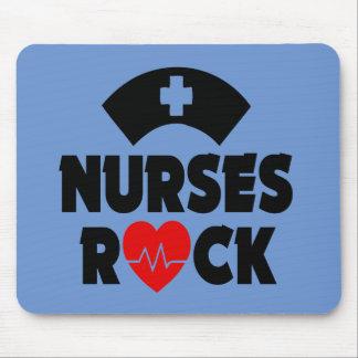 Tapete do rato engraçado da rocha da enfermeira mouse pad