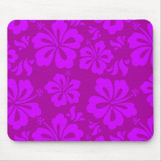 Tapete do rato havaiano da flor mouse pad