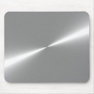 Tapete do rato metálico de prata do olhar mouse pad