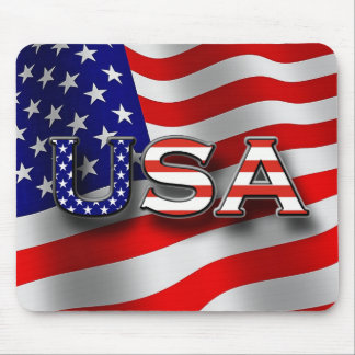 Tapete do rato patriótico dos EUA com 3 - rotulaçã Mouse Pad