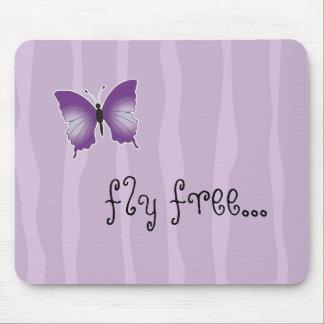 Tapete do rato roxo da borboleta mouse pad