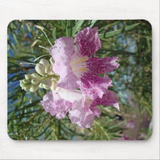 Tapete do rato roxo da flor do salgueiro de desert mouse pad