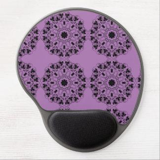 Tapete do rato roxo e preto do gel do abstrato da mouse pad de gel