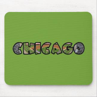 Tapete do rato verde artístico do emblema de mousepad