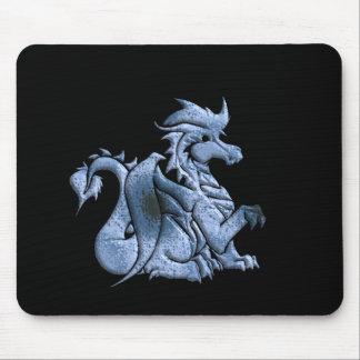 Tapete do rato voado azul do dragão mouse pads