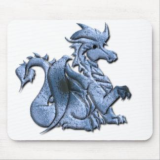 Tapete do rato voado azul do dragão mousepad
