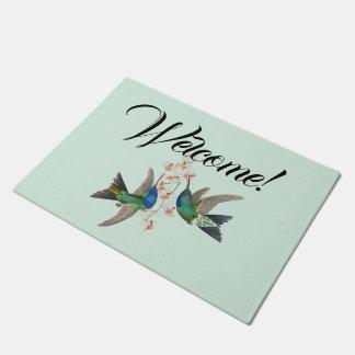 Tapete Doormat bem-vindo das flores dos animais dos