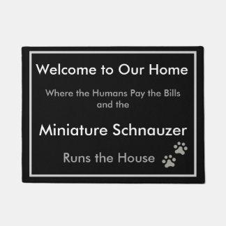 Tapete Doormat bem-vindo do Schnauzer