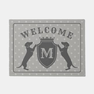 Tapete Doormat customizável do Dachshund