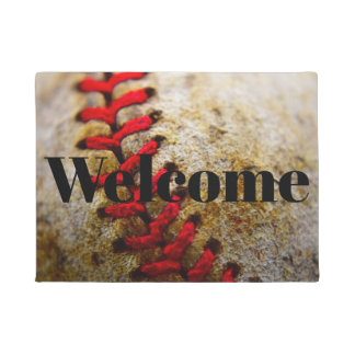 Tapete Doormat da boa vinda da imagem do basebol