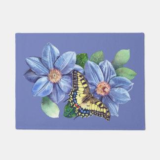 Tapete Doormat da borboleta da aguarela